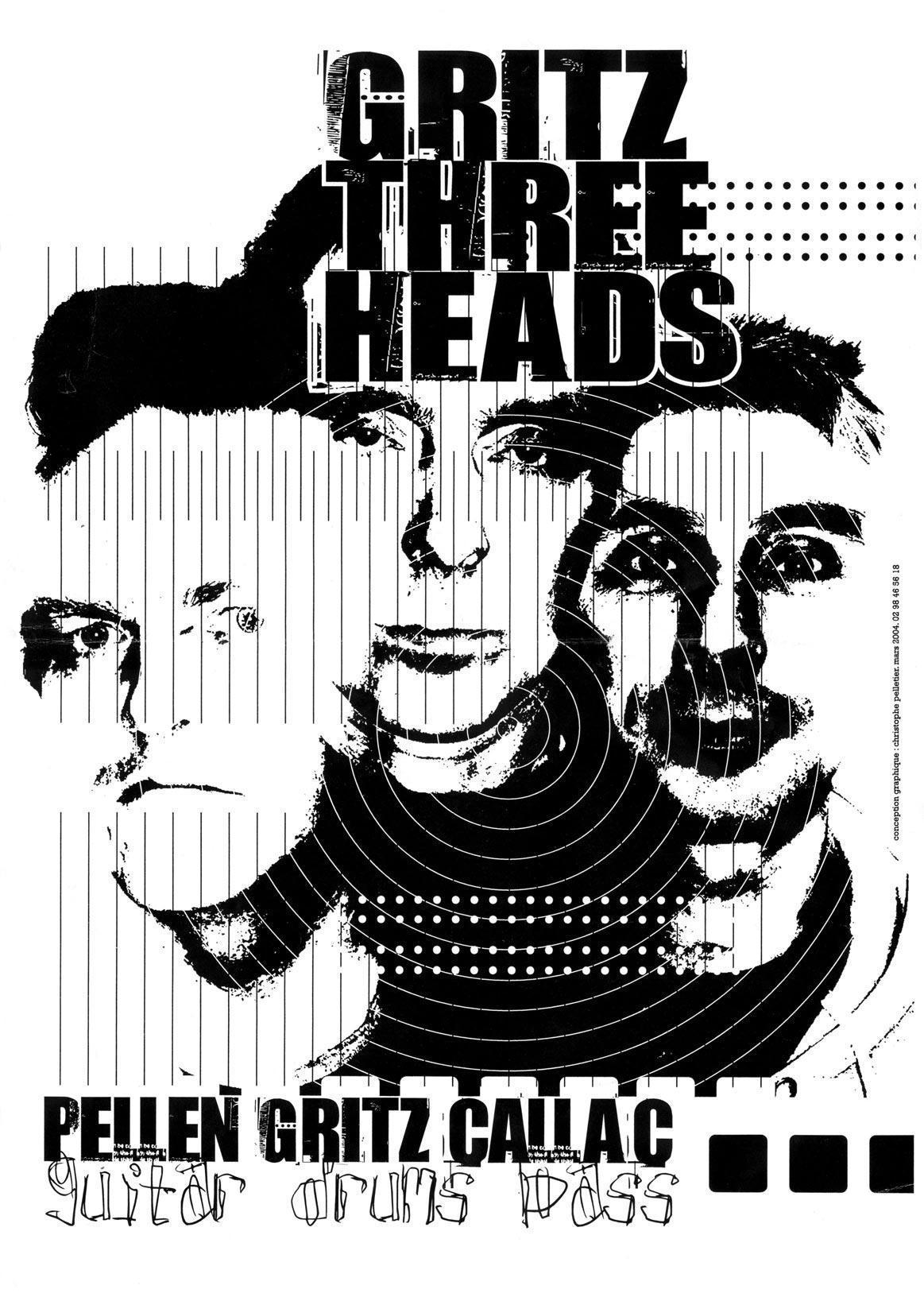 Affiche Gritz Three Heads